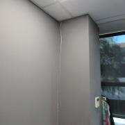 Patología entre pilar y pared